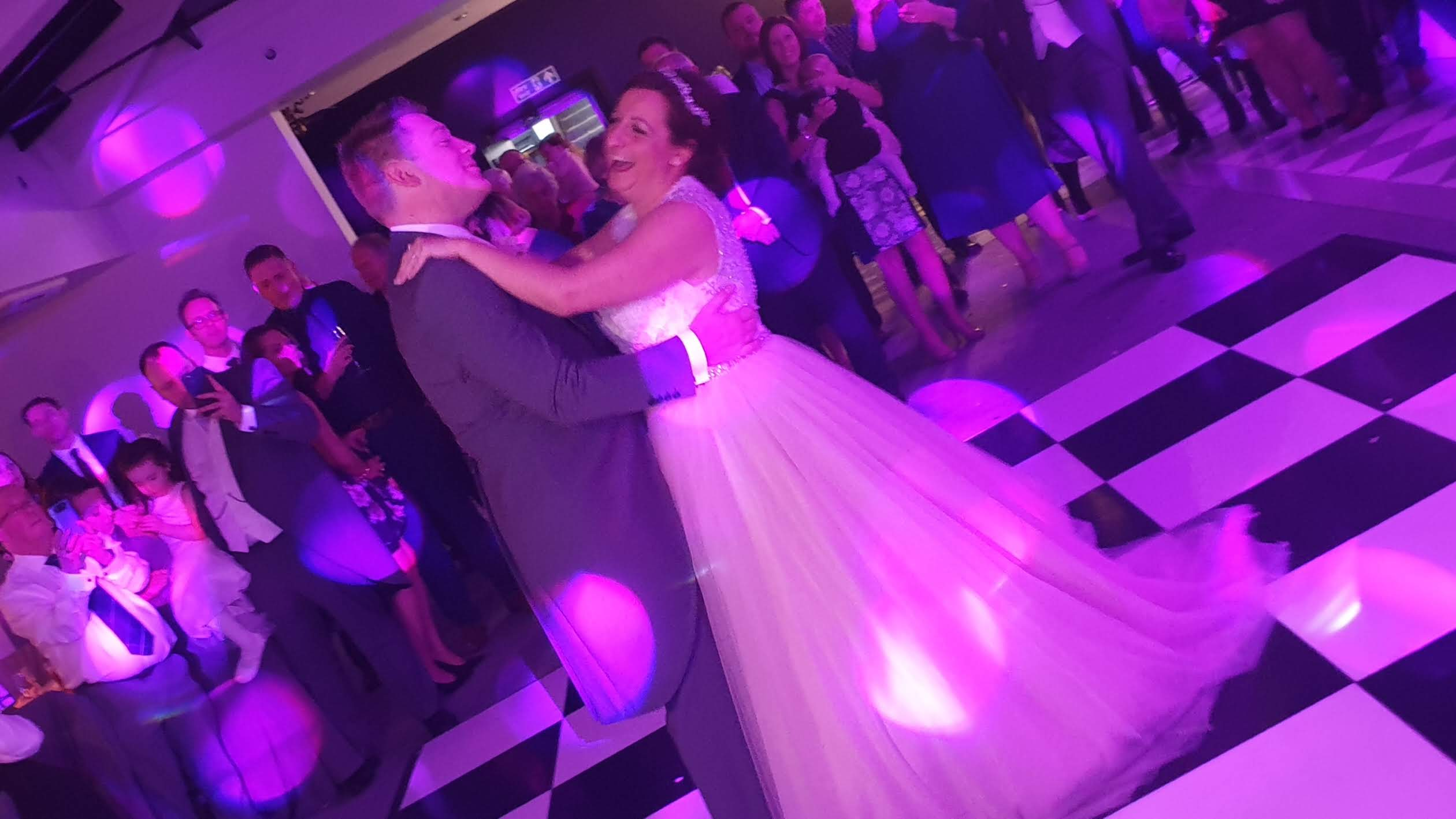 Bride & Groom have their first dance at Swynford Manor wedding venue in Cambridgeshire.