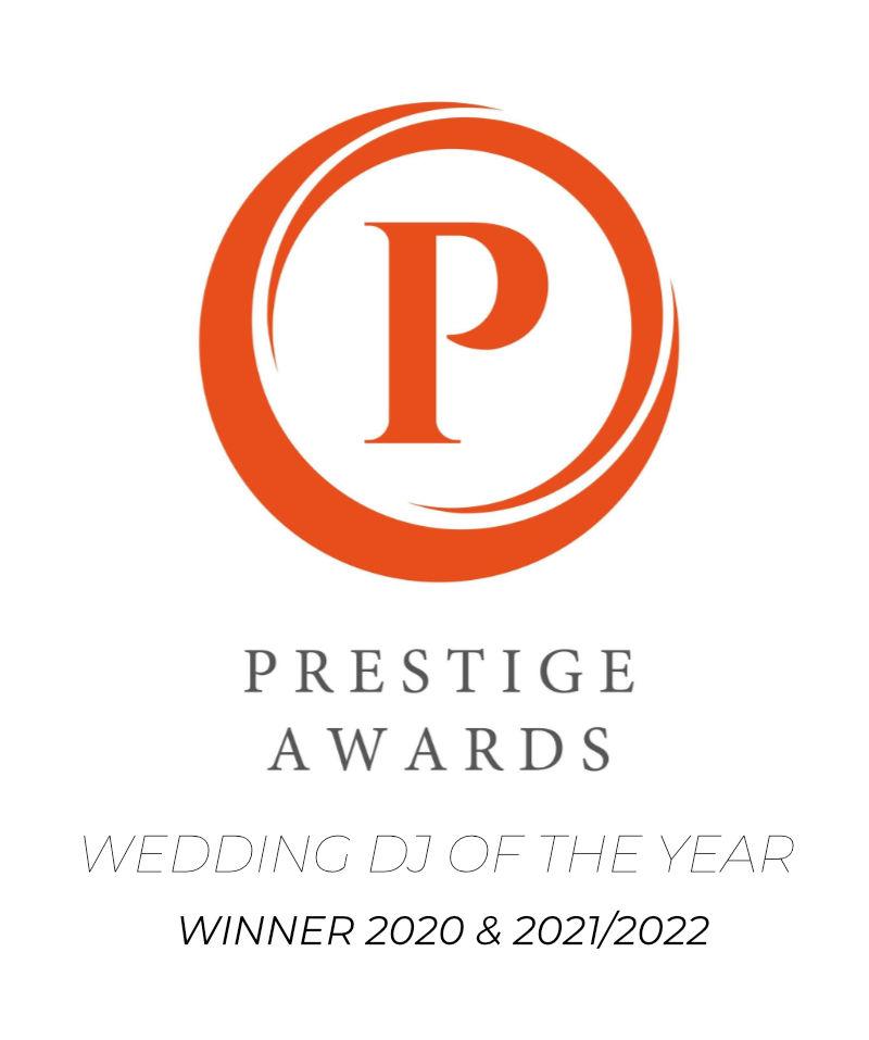Cambridgeshire Prestige Awards Wedding DJ of the Year